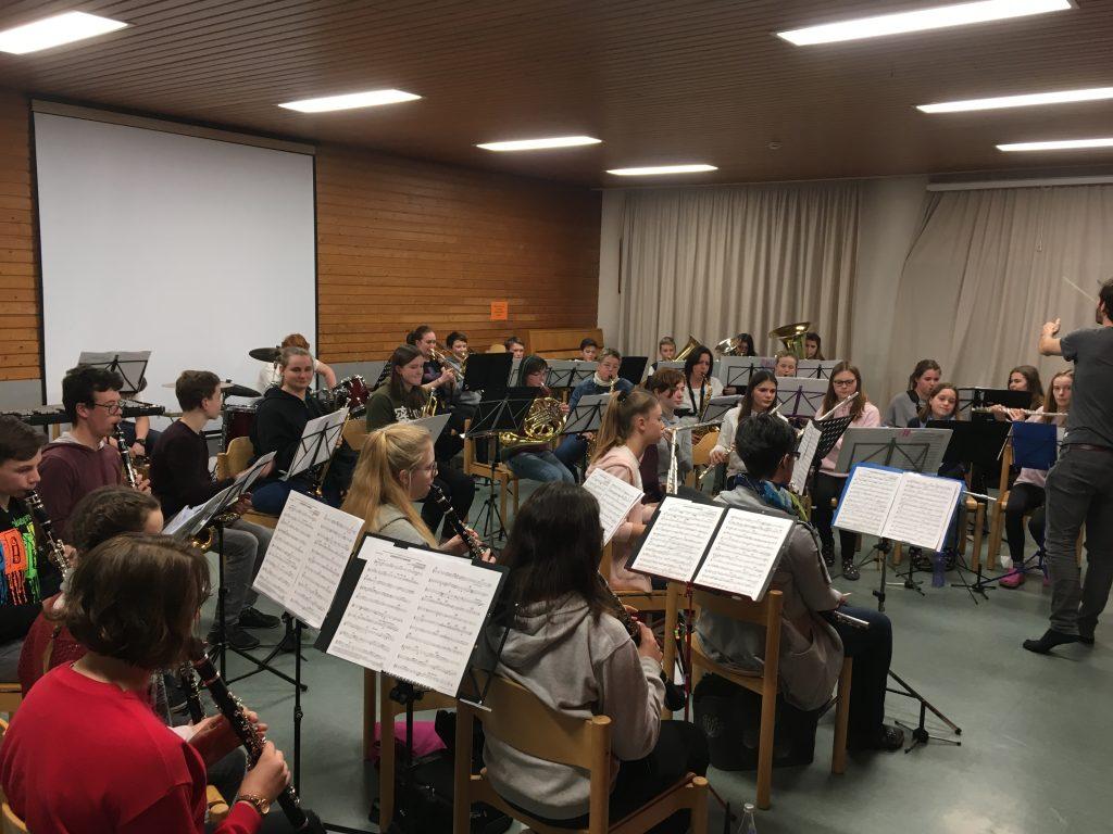 Jugend der SGL Kapelle bereitet sich auf das Jahreskonzert vor